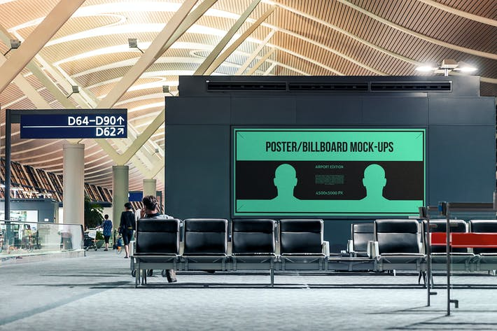 Thumbnail for Poster / Billboard Mock-ups - Airport Edition #4