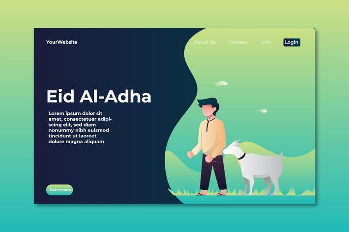 Eid Al Adha Landing Page Illustration
