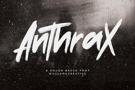 Anthrax Brush - Fuente de tipografía hecha a mano