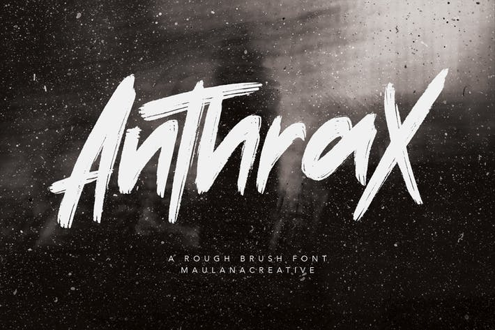 Anthrax Rough Brush Fait à la main Police écrite