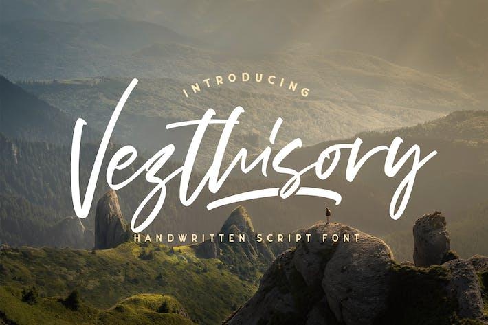 Thumbnail for Vezthisory - Handwritten Font