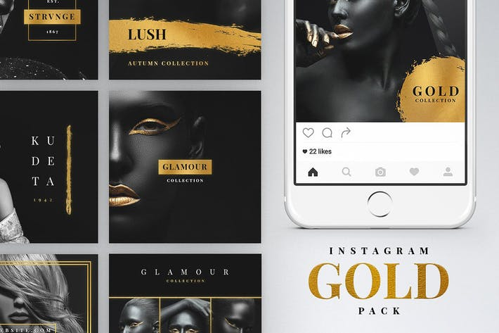 Cover Image For Instagram Gold Pack