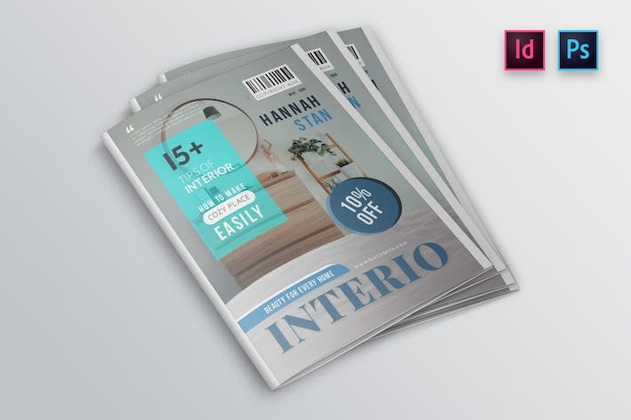 Thumbnail for Interior Magazine Cover Template