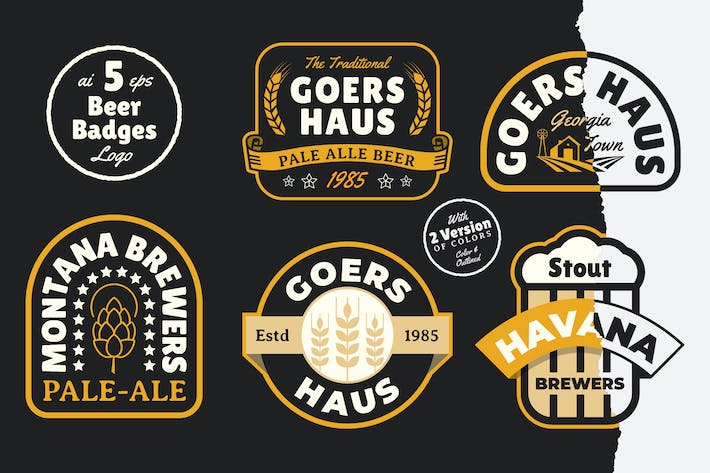 Thumbnail for 5 Beer Badges