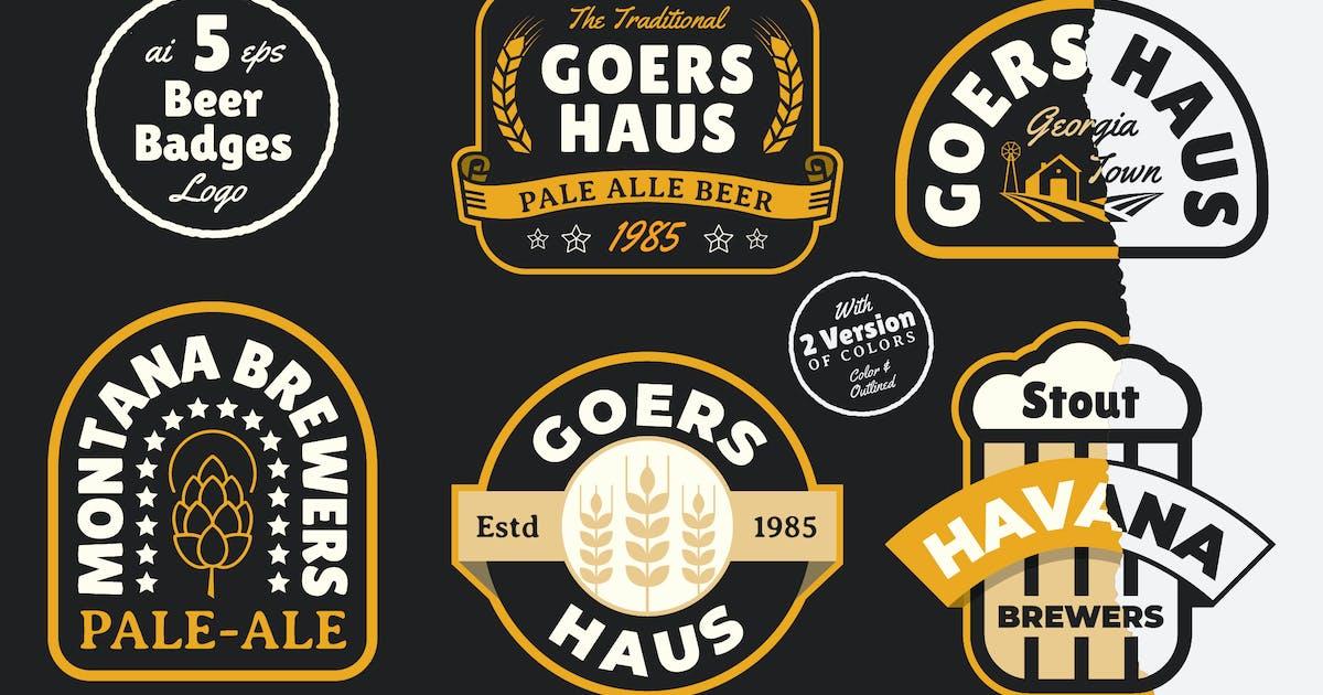 Download 5 Beer Badges by bayurakhmadio