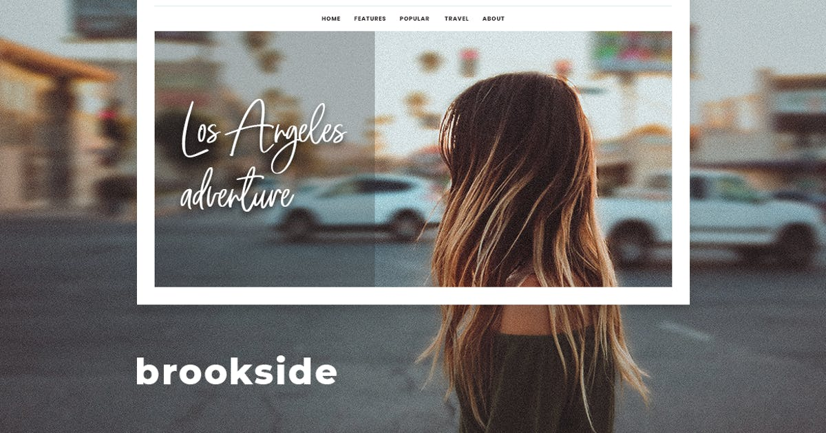 Download Brookside - Personal WordPress Blog Theme by ArtstudioWorks