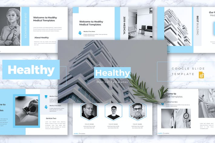 HEALTHY - Medical Google Slides Template