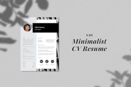 Minimalist CV Resume Template Vol. 3