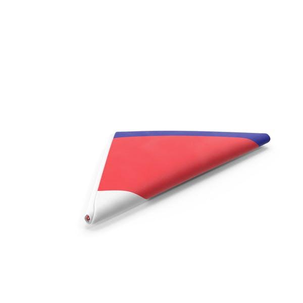 Flag Folded Triangle France