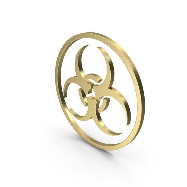 Biohazard Zeichen Gold