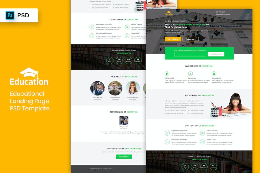 Educational - Landing Page PSD Template-03