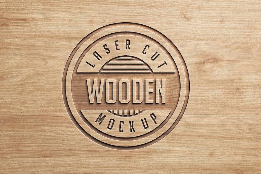 Logo Mock Ups  Wood Style