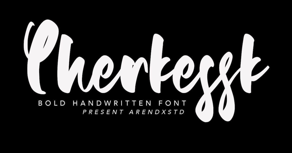Download Cherkessk Bold Handwritten Font by arendxstudio