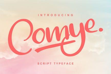 Comye | Script Typeface Font