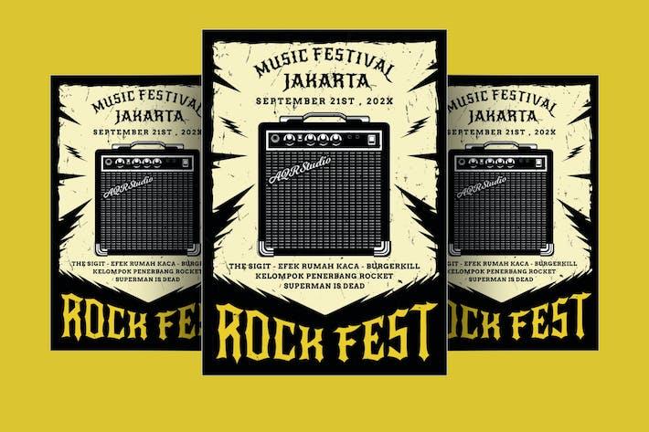Thumbnail for Rock Fest Flyer