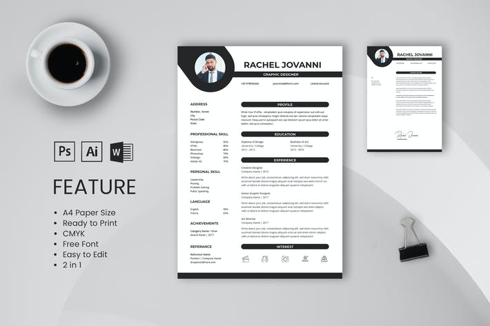Thumbnail for Professional CV And Resume Template Jovanni