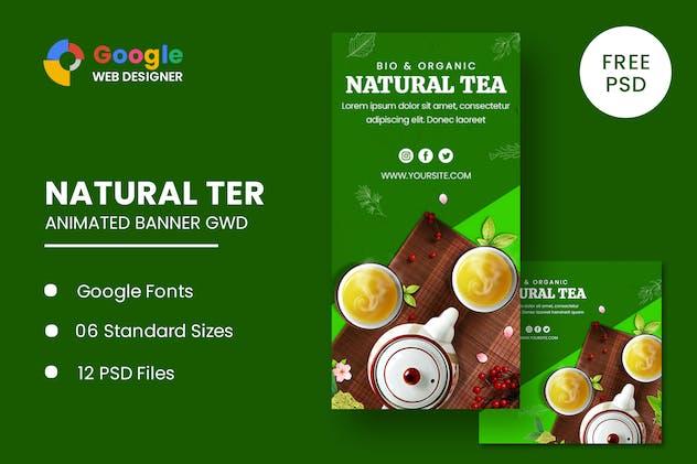 Natural Tea Animated Banner Google Web Designer