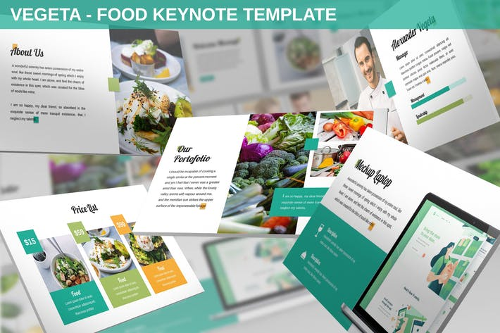 Thumbnail for Vegeta - Food Keynote Template
