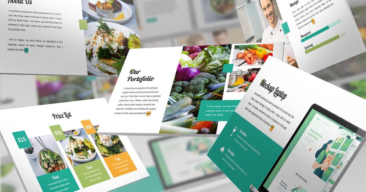 Download Vegeta - Food Keynote Template by SlideFactory