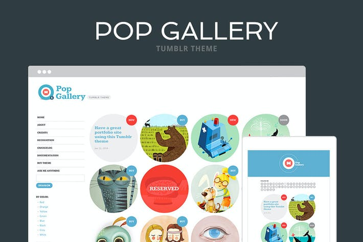Thumbnail for Pop Gallery Tumblr Theme