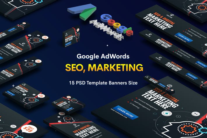 Thumbnail for SEO, Marketing Agency Banners Ad