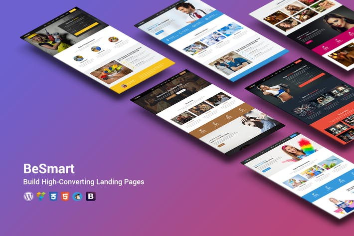 Thumbnail for BeSmart High-Converting Landing Page WordPress The
