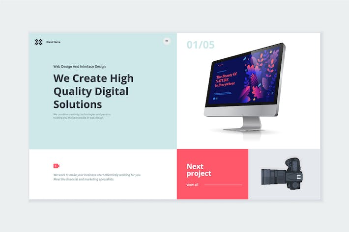 Cover Image For Website Template Design