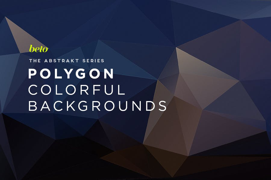 Polygon Abstract Backgrounds V6