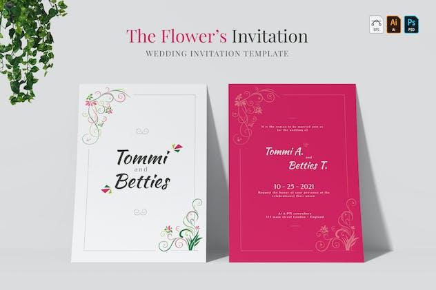 The Flower's | Wedding Invitation