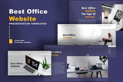 Best Office Website - Google Slides Template