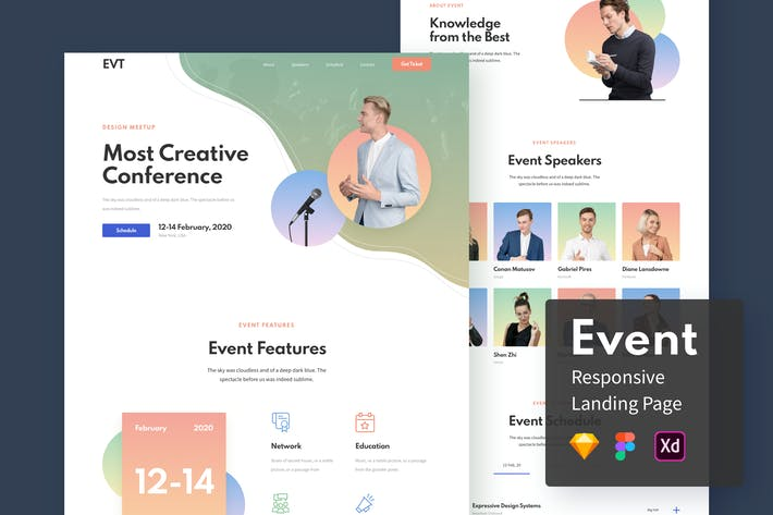 Thumbnail for Event Responsive Landing Page
