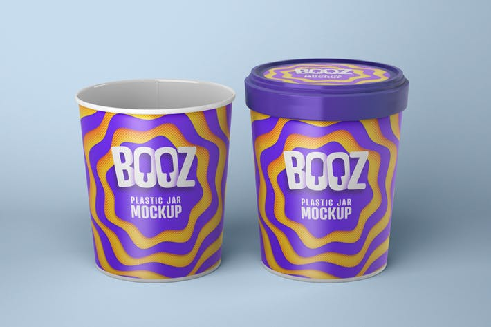 Thumbnail for Realistic Ice Cream Cups Mockup