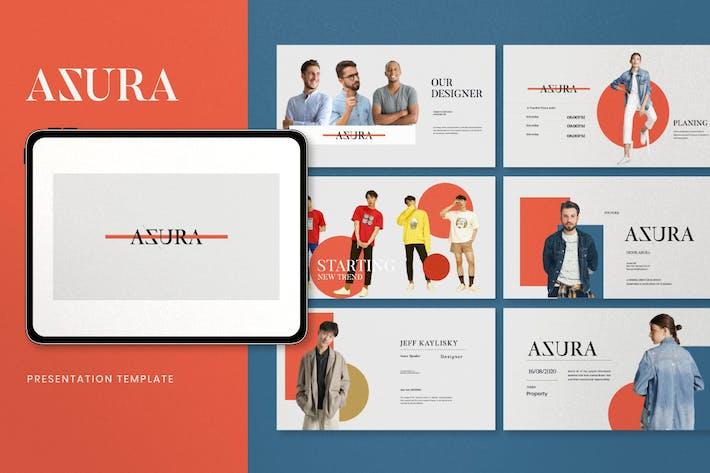 Thumbnail for Azura - Minimal Fashion Powerpoint Templates