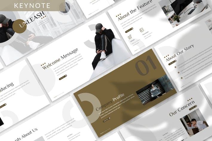 Thumbnail for Unleash - Business Keynote Template