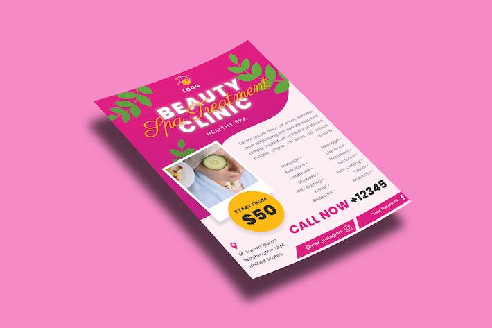 Thumbnail for Beauty Clinic – Flyers Template