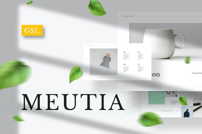Thumbnail for Meutia - Minimalist Google Slides Template