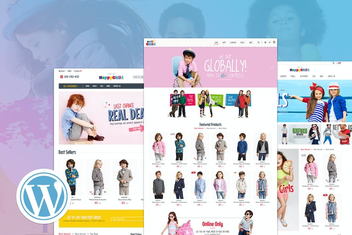 Thumbnail for HappyChild | Multi Store Responsive WordPress Them
