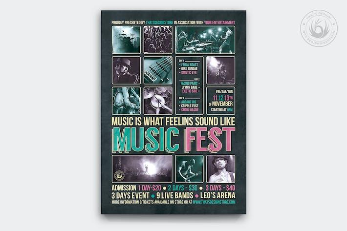 Thumbnail for Music Festival Flyer Template V8