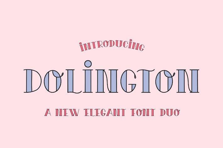 Thumbnail for Dolington Font Duo
