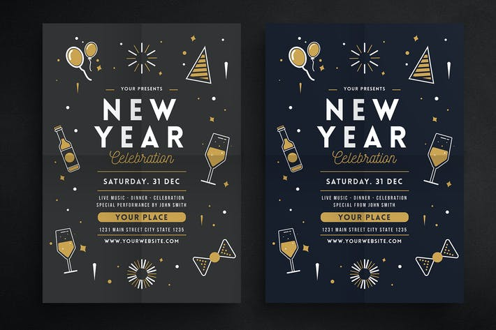 Thumbnail for New Year Celebration Flyer