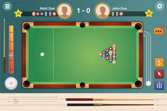 Thumbnail for Pool Tournament Vector Game Illustration