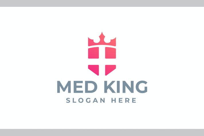 Thumbnail for Med King - Health and Medical Logo
