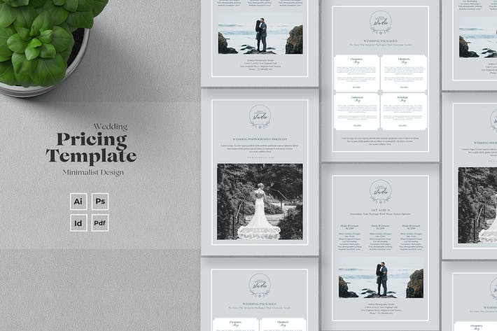 Thumbnail for Wedding Photography Pricelist Template