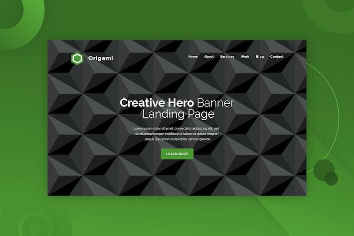 Thumbnail for Origami - Hero Banner Template