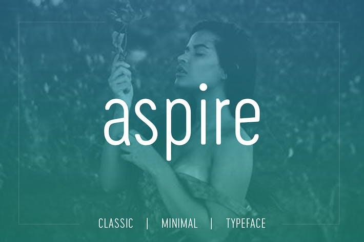 Thumbnail for Aspire Sans - Modern Typeface + WebFont