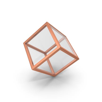 Glass Cube Bronze