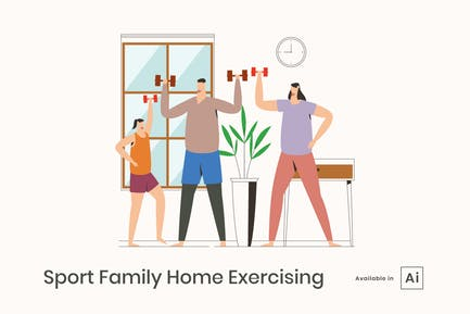 Sports Family Home Exercising