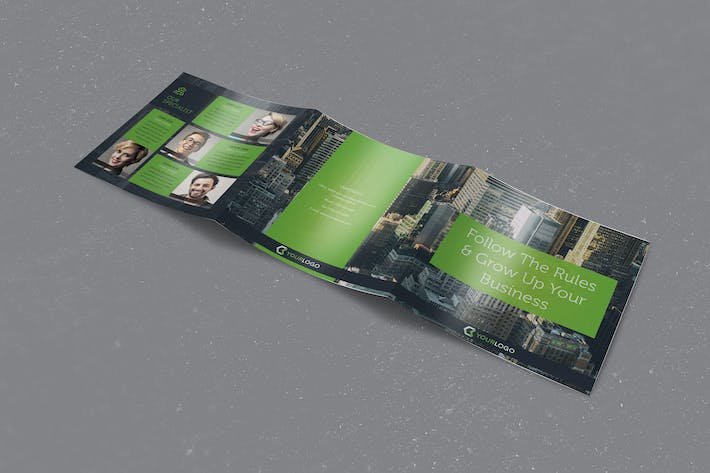 Thumbnail for Corporate Business Square Trifold