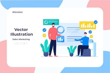 Sales Marketing - Vector Illustration