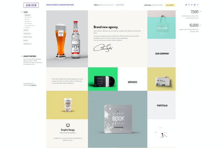 Thumbnail for Union - Portfolio and Agency WordPress Theme